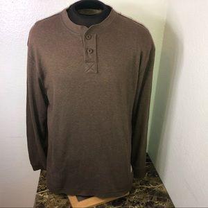 Life Is Good Brown Long Sleeve Shirt